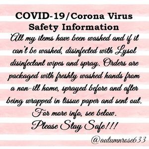 COVID-19/Corona Virus Safety Information